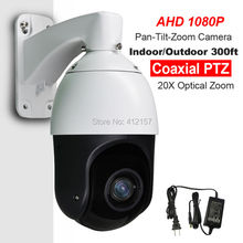 "CCTV IP66 Outdoor Security 4"" MINI High Speed Dome AHD 1080P PTZ Camera 2.0MP 20X Zoom Auto Focus IR 100M Coaxial PTZ Control"