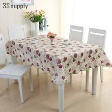 New Arrival Table Cloth Rectangular Pastoral Style Floral Printed Tablecloth Home And Decoration Elegant Tables Cover
