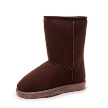 2017 autumn and winter new warm tube snow boots thick cashmere plush warm cotton shoes women boots(China)