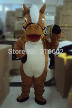 High quality Lovely Brown Horse adult Mascot Costume For Festival/Hallooween/Christmas