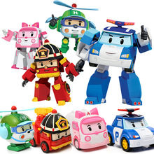 Kawaii Mini Transformation Robot Car Toys Deformation Mini Action Figures Baby Cartoon Toy for Children Christmas Birthday Gift