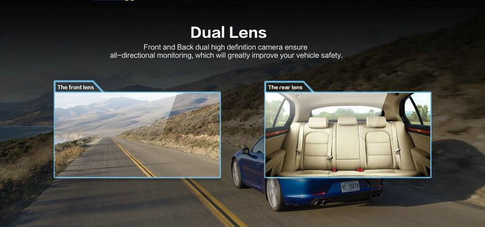 Azdome GS65H Mini Dual Lens Car DVR Camera 1080P Full HD Dash Cam Novatek 96655 Video Recorder G-sensor Night Vision 5