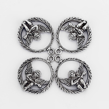 20pcs Antique Silver Baby Angel Play Music Pendant/ Charm For Necklace DIY Jewelry Findings Accessories(China)