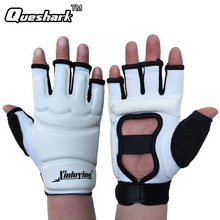 Taekwondo Gloves Fighting Hand Protector WTF Approved Martial Arts Sports Hand Guard PU Leather Fitness Boxing Gloves(China)