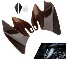 Saddle Shield Heat Deflectors For 2008 Harley Touring Electra Street Road Glides(China)