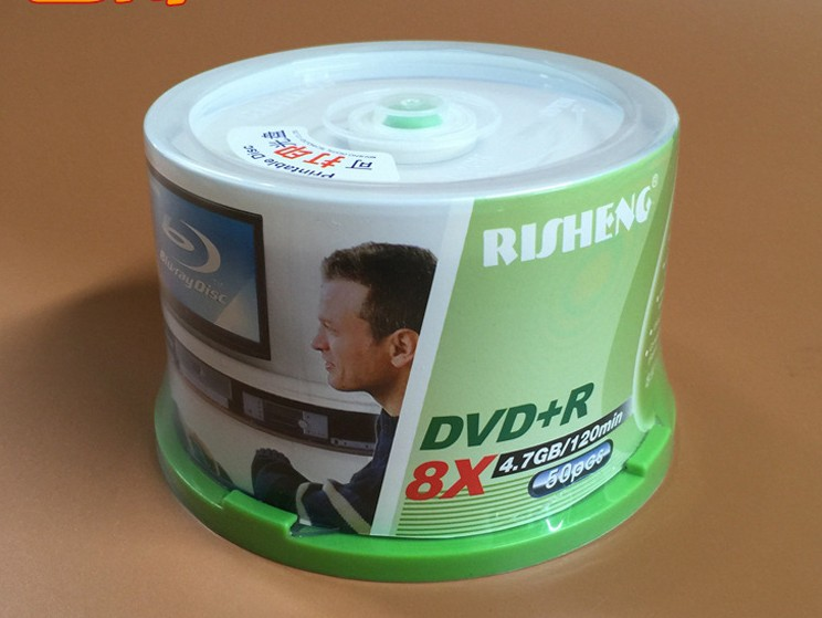 Wholesale 50 Discs RS Risheng Grade A 4.7 GB 8x Blank Printable DVD+R Disc(China (Mainland))