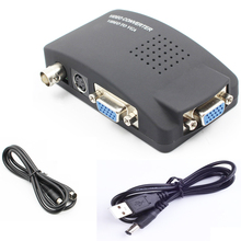 Multi-funtion VGA/S-video/BNC to VGA converter splitter with power supply for CCTV cameras