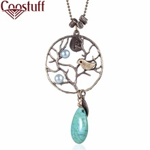 2017 Woman jewelry statement necklaces & pendants Vintage The Tree of Life with Stone necklace women collares Chokers collier