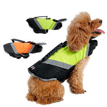 Dog Life Jacket Vest with Extra Padding for Dogs Reflecting Pet Dog Swimming Preserver 2 Colors(China)