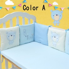 Buy 2016 Hot Sale Infant Crib Bumper Bed Protector Baby Kids Cotton Cot Nursery bedding 6 pc Cotton Beige bear bumper for $28.99 in AliExpress store