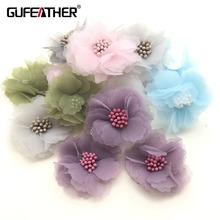 GUFEATHER L48/jewelry accessories/Jewelry decoration/diy earrings findings/ tassels flowers/Brooch production/Clothing making(China)