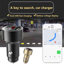 Bluetooth Positioning Tracker Smart Searching Car Dual USB Car Kit LCD With Voltmeter