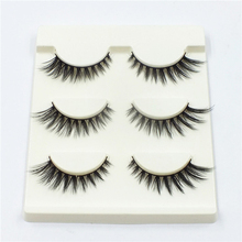 3 Pairs 100% Mink Hair Handmade Natural Long Thick 3D Eye Lashes Makeup Fake False Eyelashes  Tools 3D-13