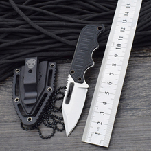 Necklace Survival Knife SOG Fixed 440 Steel Blade Knife G10 Handle Huntting Tactical Knives Camping Outdoor EDC Tools z2(China)
