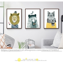 Home Decor Wall Art Animal Painting Bright Colour Creative Style for Children Room Decoration Ready to Hung Top Quality