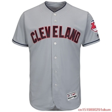 MLB Men's Cleveland Indians Baseball Road Gray Alternate Navy Home White Flex Base Authentic Collection Team Jersey