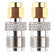 2pcs RF Coaxial Coax Adapter RP-SMA Male to RP-TNC Female Connector TNC to SMA barrel type connector(China)