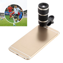 Newest Universal Clips 8X Zoom Phone Lens Telephoto Camera Telescope Lens For Samsung J3 A7 A8 grand prime iPhone 4s 5 5s 6 6s 7(China)
