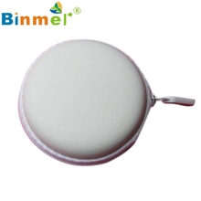 Colourful Portable Mini Round Hard Storage Case Bag for Earphone Headphone SD TF Cards Wholesale price Sep22