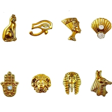 20PCS Beauty Egyptian Style Gold Nail Charms 3D Metal Nail Art Decoration Accessories Supplies Tool(China)