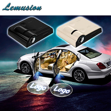 2pcs Car Door Welcome Light Laser Projector LED For Seat Leon Honda Accord Jeep Mazda 3 Skoda Octavia Ford Focus 2 Accessories