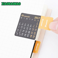Quality Paper material bookmark monthly yearly planner index for notebook and dairy calendar leather sticker scrapbook sticker(China)