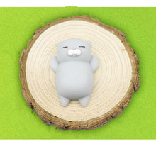 1pcs Finger Toys Squishy Mini Kawaii Squeeze Stretchy Animal Healing Stress White Gray Cat Animals Anti-stress Hand Toys