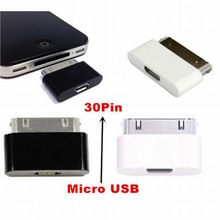 Portefeuille Micro USB Female to 30 Pin for Apple Adapter Microusb Cable Charger Adapter For iPhone 4 4S iPad 1 2 3 iPod oplader