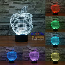 3D Table Apple Led Night Light Touch Switch For Gift All Colors Flash In Turn