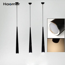 High-quality  modern conical LED pendant light 3w , Aluminum, surface paint, silver ,white ,black. Beam angle 60 degree. Haomer