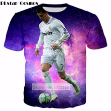 Buy PLstar Cosmos 2017 summer Fashion Short sleeve 3d t-shirt Character printing Cristiano Ronaldo Tee shirts Men Women tee tops for $8.94 in AliExpress store