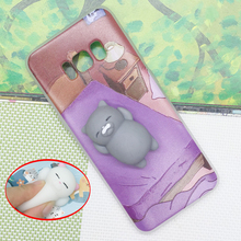 Squishy Phone Case for Samsung S6 S7 S8 S8plus 3D Cute Bear Seal Soft Cover for iPhone 5 6 6s 7 Plus Huawei P10 P9 P8 Lite 2017
