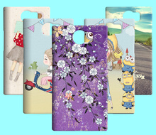 Hot Sale Cartoon Lovely Patterns Flower Skin Plastic Hard Case Cover For Blackberry Priv