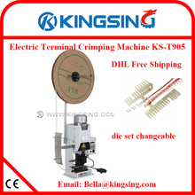 Extremely Compact New Design Desktop Terminal Wire Crimping Press Machine & Quick Install Die Sets KS-T905 + DHL Free Shipping