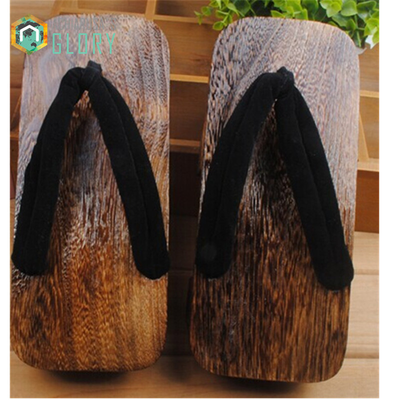 Japanese geta ,Women flip flops heel 2017 summer sandals paulownia SAMURAI Clogs shoes Cosplay shoes costume MGETA-015<br><br>Aliexpress