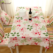 HAKOONA Thick Pastoral Style Floral Canvas Tablecloth 140x180cm  Home Hotel  Kitchen Restaurant  Table Cover Dust Proof Cloths