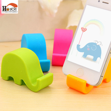 CUSHAWFAMILY Cute elephant multi-function chopsticks rack phone stents storage holders Household Items receive rack Home decor(China)