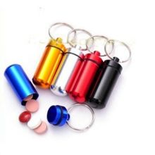 New Useful 5 Pcs Waterproof Aluminum Pill Box Case Drug Holder Keychain Container Mini Medicine Bottle Storage