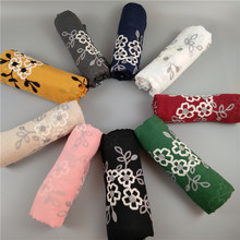 New Arrival Super Nice embroider floral shawls large scarf islam headband hijabs muslim winter wraps cotton scarves 10pcs/lot