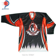 Orange Black Ice Hockey Jersey With Custom Team Logos(China)