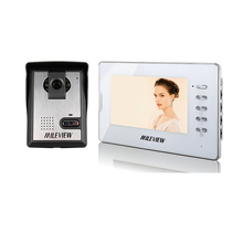 Brand New Wired 7 inch Color Video Door Phone Audio Intercom System 1 White Monitor + 1 Doorbell Camera In Stock FREE SHIPPING