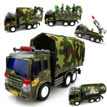 26Cm Diecast ABS Material Delicate Inertia Toy Car Military truck Missile/Tanker Autorama Transport Vehicle Model Gift For Boy