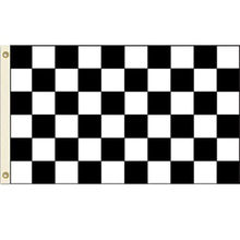 Hot 3X5 FT NASCAR BW Black White CHECKERED CHECKER RACING BANNER FLAG