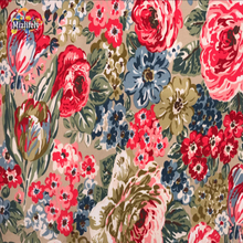 UK Brand Cotton cloth canvas PVC fabrics For Patchwork flower DIY Sewing  tablecloth curtain wallpaper Dolls Shirt  Y018