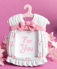 FREE SHIPPING+Best Selling Cute Baby Themed Picture Frame Pink Clothes Photo Frames Baby Shower Favors and Gift+100pcs/LOT