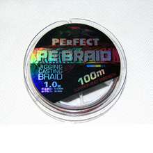 High quality 100 meters colorful PE fishing line 4 strands strong strength woven fish lure thread(China)
