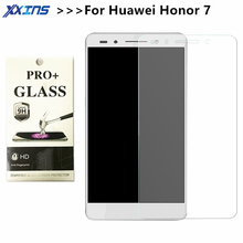 "Tempered Glass For Huawei honor 7 PLK-TL01H honor7 Screen protective  5.2"" inch Retail Package crystals cover discount"