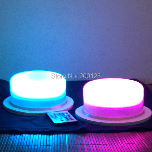 Rechargeable remote control 17.5cm led lights for ball furniture<br>
