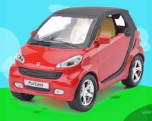 New Smart Fortwo Pull back Car Model 1:32 Original Alloy Car Models Baby Toy Educational Pull Back Gifts For Boys(China)