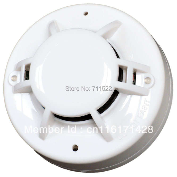 free shipping Conventional Smoke and Heat Detector  with Relay Output  milti sensor smoke detector heat alarm<br><br>Aliexpress